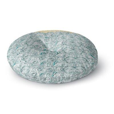 Pom Graphic Design Sunny Tribal Seas II Ocean Round Floor Pillow Size: 23 x 23