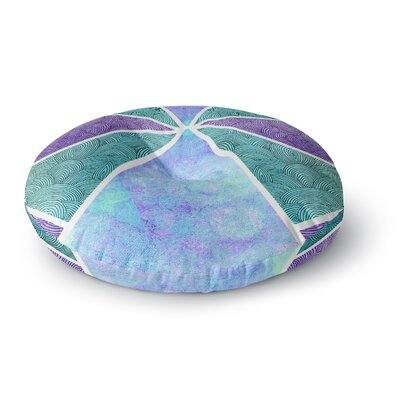Pom Graphic Design Reflective Pyramids Round Floor Pillow Size: 26 x 26