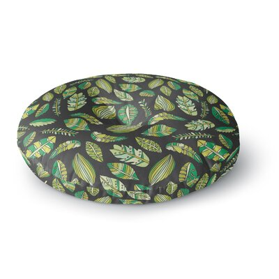 Pom Graphic Design Tropical Botanicals 2 Nature Round Floor Pillow Size: 23 x 23