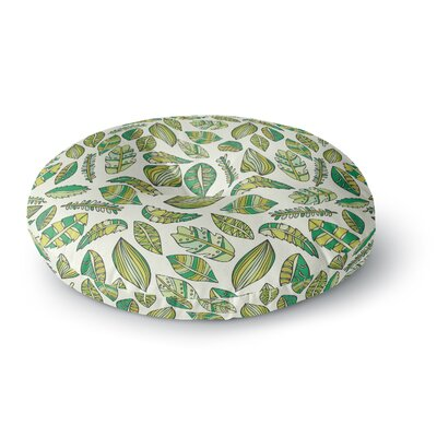 Pom Graphic Design Tropical Botanicals Nature Round Floor Pillow Size: 26 x 26