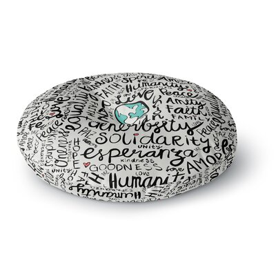 Pom Graphic Design Positive World Round Floor Pillow Size: 26 x 26