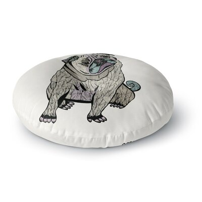 Pom Graphic Design Ares the Pug Round Floor Pillow Size: 26 x 26