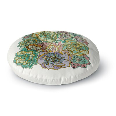 Pom Graphic Design Succulent Love Round Floor Pillow Size: 26 x 26