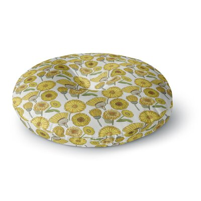 Pom Graphic Design Calendula Flowers Round Floor Pillow Size: 23 x 23