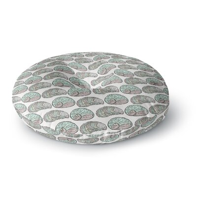 Pom Graphic Design Retro Sea Shells Nautical Round Floor Pillow Size: 23 x 23