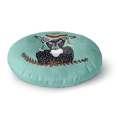 Pom Graphic Design Hipster Deer Animals Illustration Round Floor Pillow Size: 23 x 23