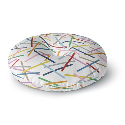 Project M Sprinkles Round Floor Pillow Size: 23 x 23