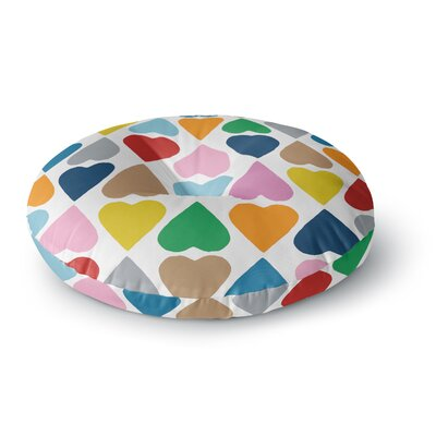 Project M Diamond Hearts Round Floor Pillow Size: 23 x 23