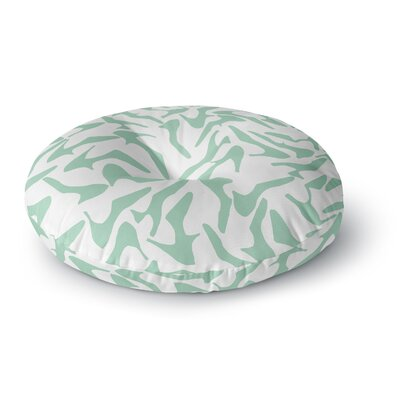 Project M Shoe Mint Round Floor Pillow Size: 26 x 26