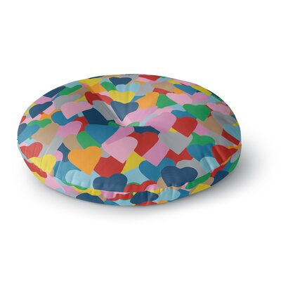Project M More Hearts Round Floor Pillow Size: 23 x 23
