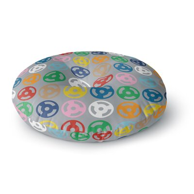 Project M Roll with it on Gray Round Floor Pillow Size: 23 x 23