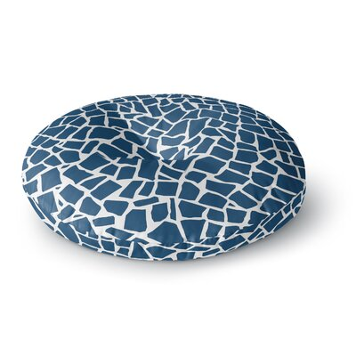 Project M British Mosaic Navy Round Floor Pillow Size: 26 x 26