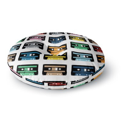 Project M Rainbow Tapes Round Floor Pillow Size: 26 x 26