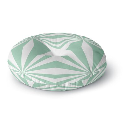 Project M Starburst Mint Round Floor Pillow Size: 23 x 23