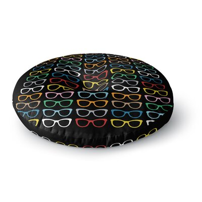 Project M Sun Glasses at Night Round Floor Pillow Size: 26 x 26