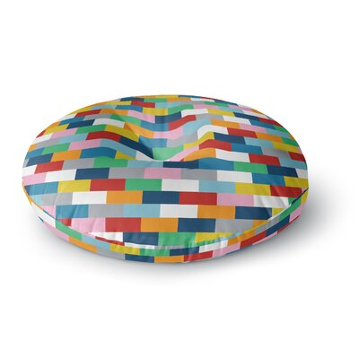 Project M Bricks Round Floor Pillow Size: 26 x 26