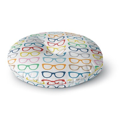 Project M Rainbow Specs Round Floor Pillow Size: 23 x 23