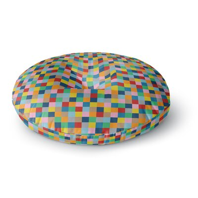 Project M Color Blocks Geometric Rainbow Round Floor Pillow Size: 26 x 26