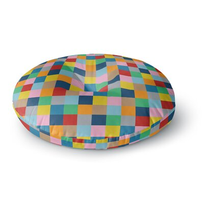 Project M Color Blocks Zoom Geometric Rainbow Round Floor Pillow Size: 23 x 23