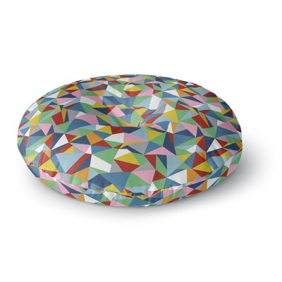 Project M Abstraction Rainbow Abstract Round Floor Pillow Size: 23 x 23
