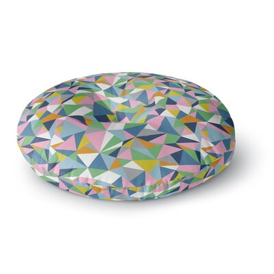 Project M Abstraction Pink Rainbow Abstract Round Floor Pillow Size: 23 x 23