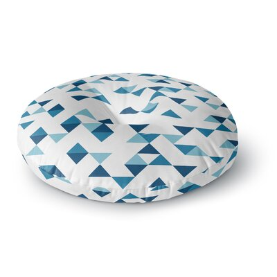 Project M Triangles Blue Round Floor Pillow Size: 23 x 23