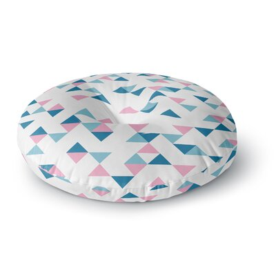 Project M Triangles Pink Blush Round Floor Pillow Size: 23 x 23