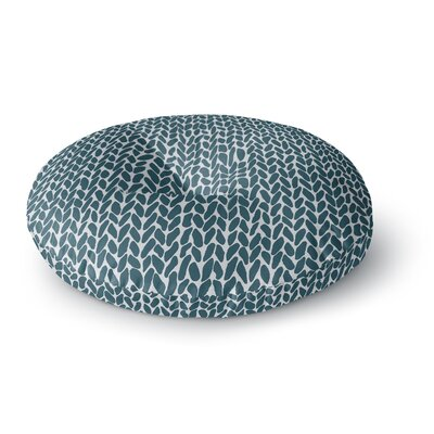 Project M Hand Knit Blue Digital Round Floor Pillow Size: 26 x 26