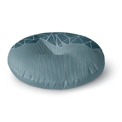 Project M AB Lines Blues Digital Round Floor Pillow Size: 23 x 23