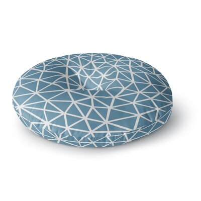 Project M Segment Blue Digital Round Floor Pillow Size: 26 x 26