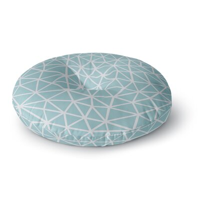 Project M Segment Salt Digital Round Floor Pillow Size: 23 x 23