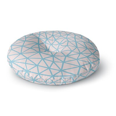 Project M Segment Pink and Blue Digital Round Floor Pillow Size: 26 x 26