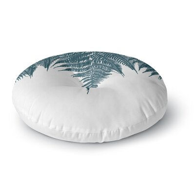 Project M Fern Blue Digital Round Floor Pillow Size: 26 x 26