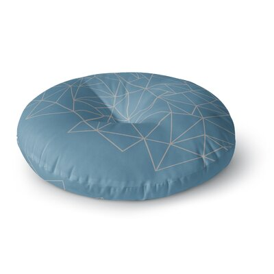 Project M AB Storm Blue Digital Round Floor Pillow Size: 23 x 23