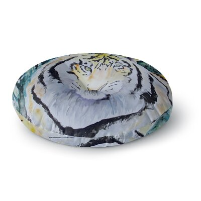 Padgett Mason Tiger Round Floor Pillow Size: 26 x 26