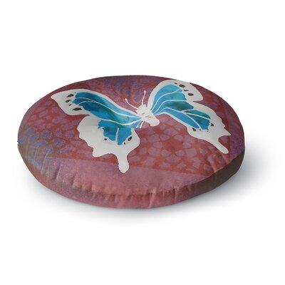 Padgett Mason Teal Flutter Round Floor Pillow Size: 26 x 26