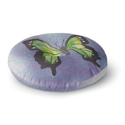 Padgett Mason Lime Green Flutter Round Floor Pillow Size: 26 x 26