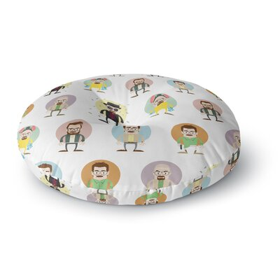 Juan Paolo The Stages of Walter White Breaking Bad Round Floor Pillow Size: 26 x 26