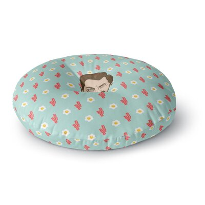 Juan Paolo Give Me All of the Bacon and Eggs Parks & Recreation Round Floor Pillow Size: 23 x 23