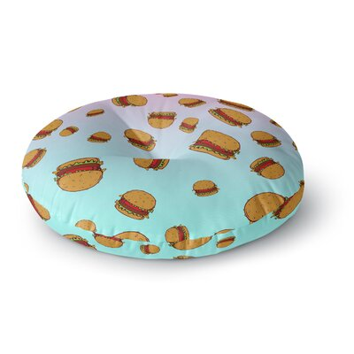 Juan Paolo Cheeseburger Paradise Round Floor Pillow Size: 23 x 23