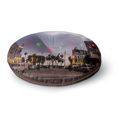 Juan Paolo Venice Christmas Holiday Photography Round Floor Pillow Size: 23 x 23