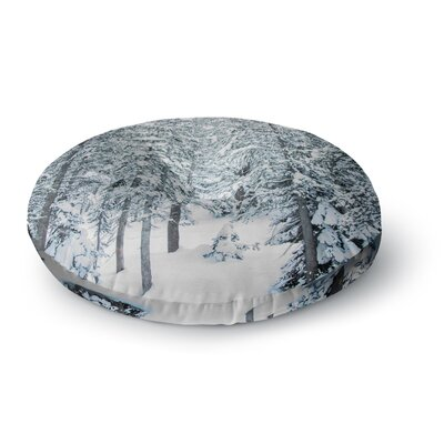 Juan Paolo Winter Trials Snow Round Floor Pillow Size: 26 x 26
