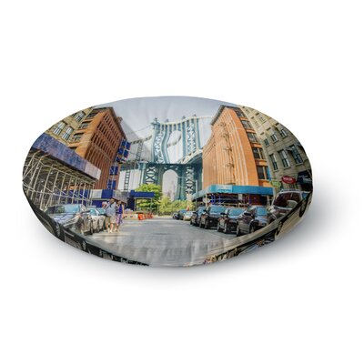 Juan Paolo DUMBO Urban Photography Round Floor Pillow Size: 23 x 23