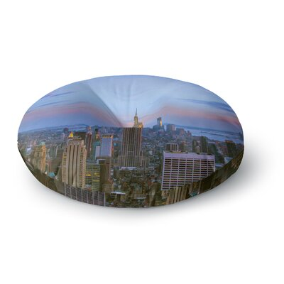 Juan Paolo Empire State of Mind Round Floor Pillow Size: 26 x 26