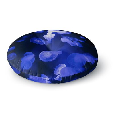 Juan Paolo Jellyfish Blue Round Floor Pillow Size: 26 x 26