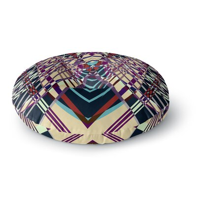 Pia Schneider SWEEPING LINE PATTERN I-E Geometric Round Floor Pillow Size: 26 x 26