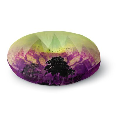 Pia Schneider Trees Under Magic Mountain Nature Round Floor Pillow Size: 23 x 23