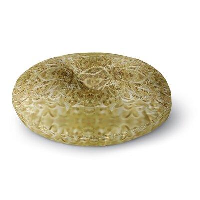 Pia Schneider Cornfield Pattern, Ocker Gold Round Floor Pillow Size: 26 x 26