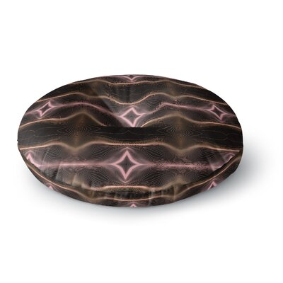 Pia Schneider Hazelnut Pale Line Vibes Digital Round Floor Pillow Size: 23 x 23