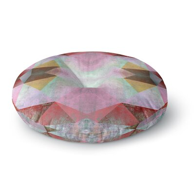 Pia Schneider Polygon Diamond I Mixed Media Round Floor Pillow Size: 23 x 23